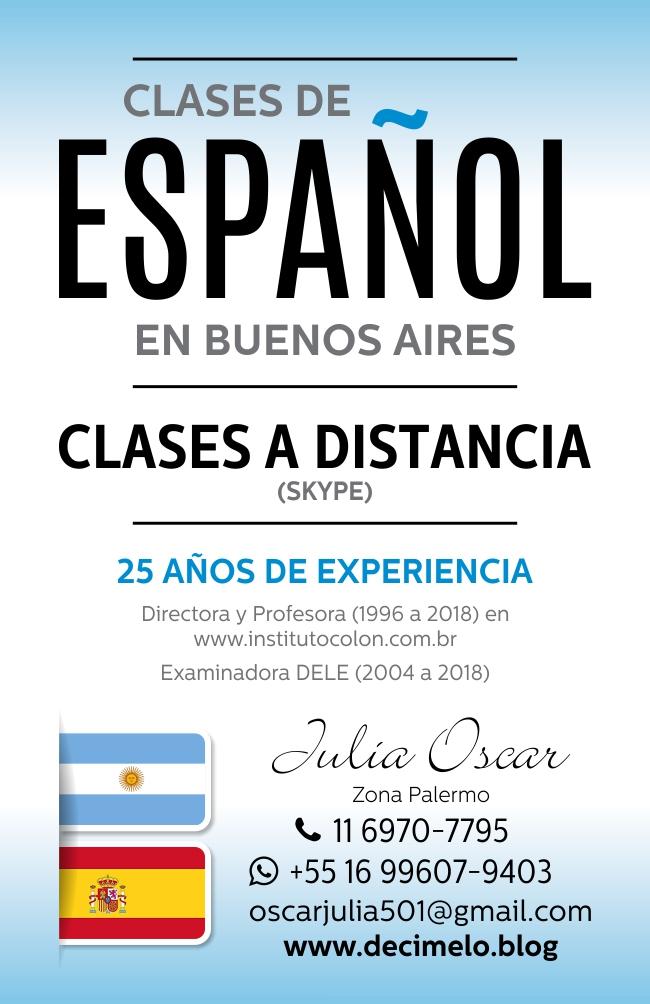 clases de español julia oscar